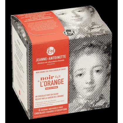 Noir à l'orange - Chocolat en poudre par Jeanne Antoinette