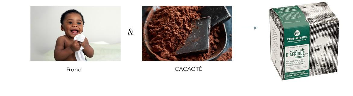 Rond, doux, cacaoté