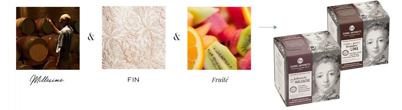 Millésimé, fin, fruité